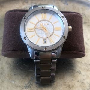 Women's Large Dial RELIC gold & silver Watch